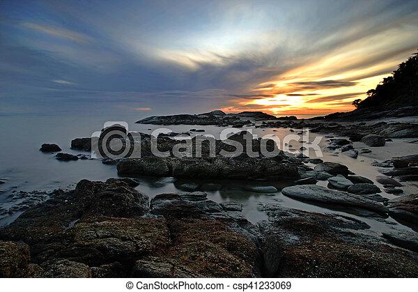 rocks in calm sea - csp41233069