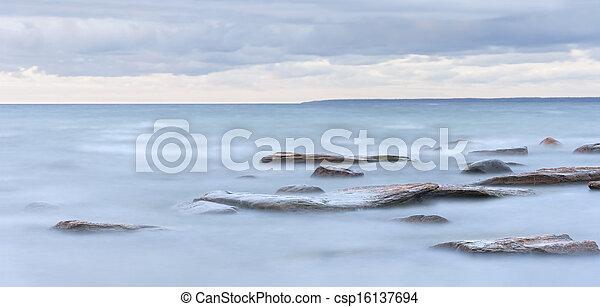 Rocks in sea - csp16137694