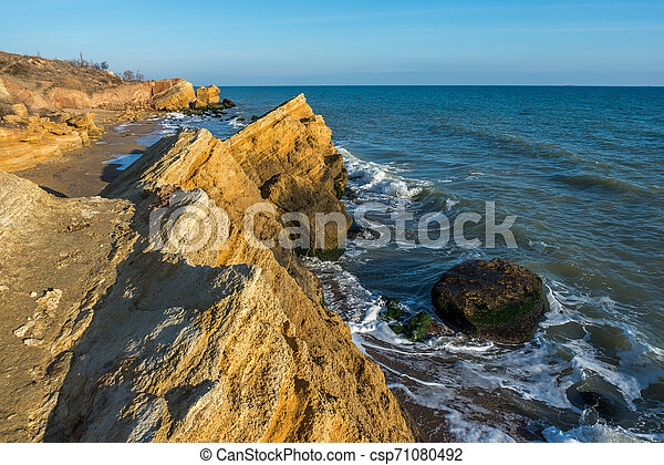 Rocks near the Black Sea coast - csp71080492