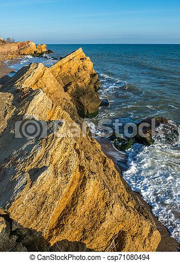 Rocks near the Black Sea coast - csp71080494