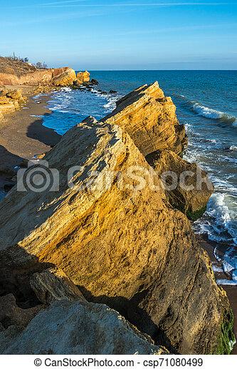 Rocks near the Black Sea coast - csp71080499
