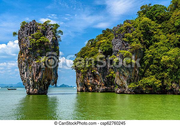 Rocks On James Bond Island Khao Phing Kan Ko Tapu Ao Phang Ng
