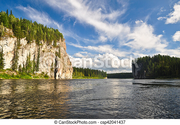 Rocks on the river in the national Park. - csp42041437
