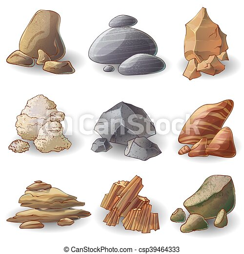 Rocks Stones Collection - csp39464333