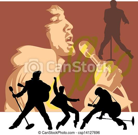 rockstar illustration - csp14127696