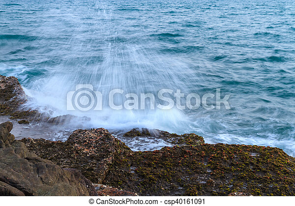 Rocky beach - csp40161091