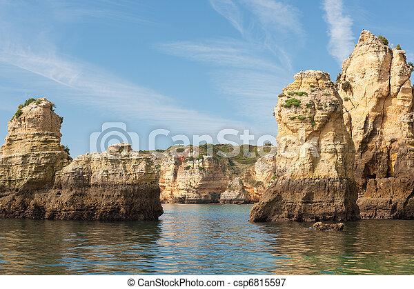 Rocky hills bathing in the Atlantic ocean - csp6815597