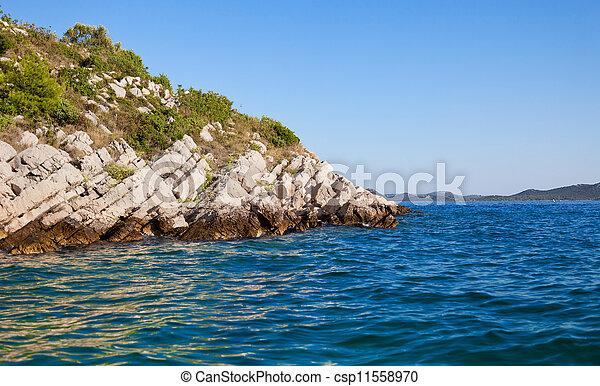 Rocky island in the Adriatic - csp11558970