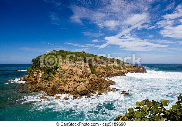 Rocky island off Puerto Rico - csp5189690