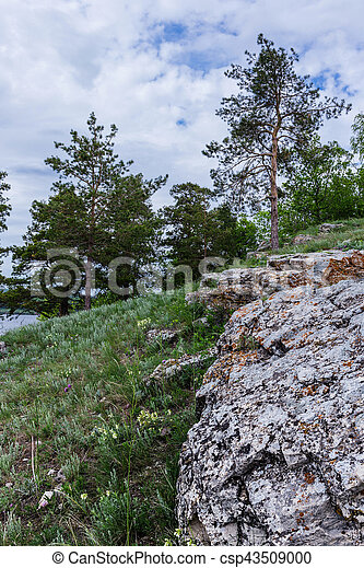 rocky ledges in the mountains - csp43509000