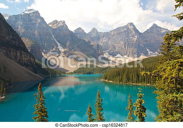 Rocky Mountain Lake - csp16324817