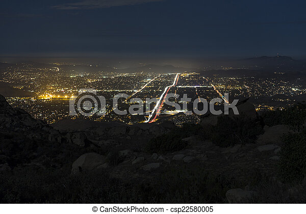 Rocky Peak Night View - Southern California - csp22580005