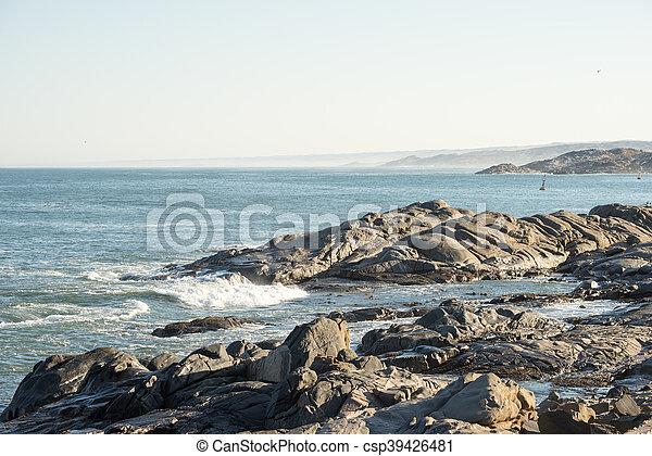 Rocky Shore at Shark Island - csp39426481