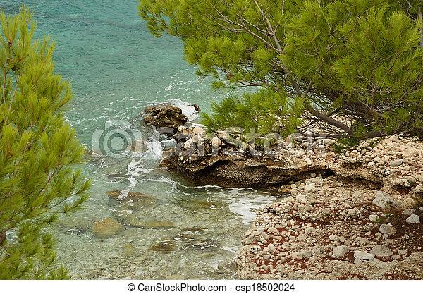 Rocky shore of the Adriatic Sea - csp18502024