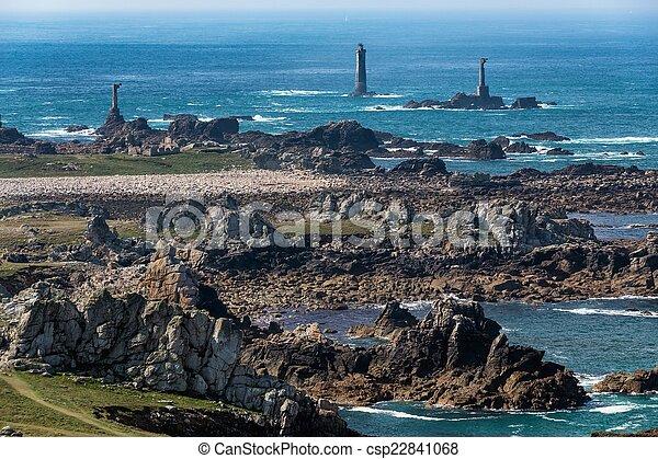 Rocky Ushant island coastline - csp22841068