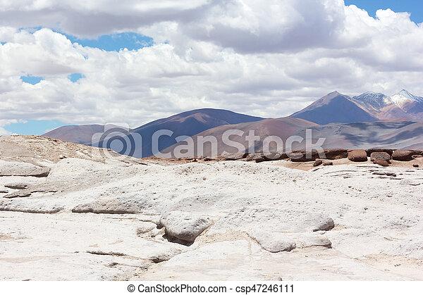 Rocoso, america., chile, paisaje, desierto, atacama, sur. Montañas ...