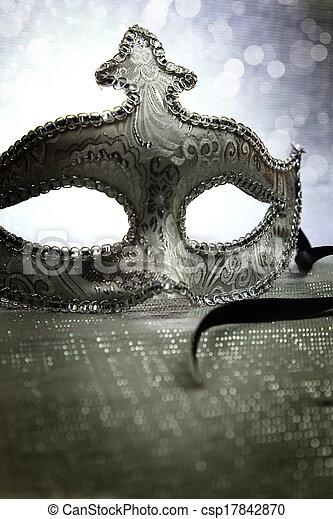 rocznik wina, maska, karnawał, wenecjanin - csp17842870
