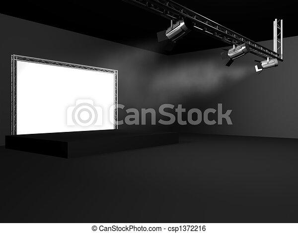 rocznik wina, teatr, strumienica, tło, rusztowanie - csp1372216