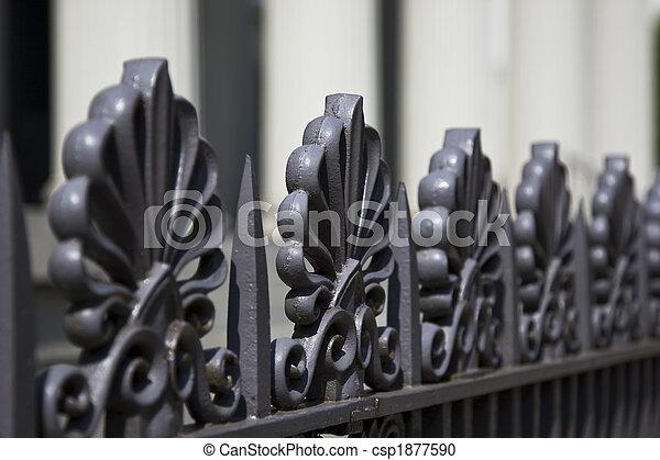 Rod Iron Fence - csp1877590