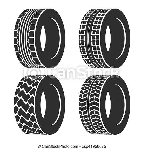 roda, car, trator, caminhão, automóvel, pneu, ou - csp41958675