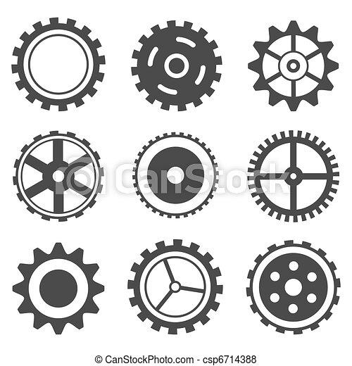 roda, jogo, dente - csp6714388