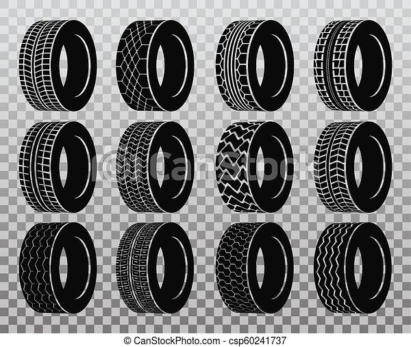 roda, pneu, automóvel, isolado, ou, caminhão, autocarro, tyre. - csp60241737
