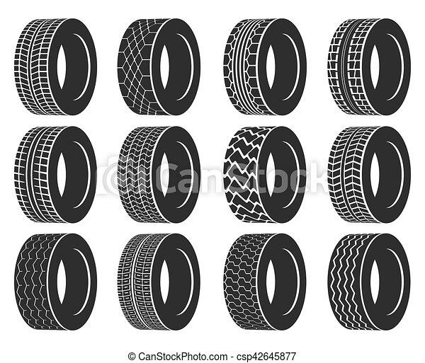 roda, pneu, automóvel, ou, autocarro, caminhão, tyre. - csp42645877