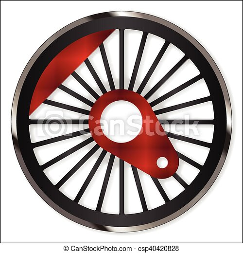 roda, trem, vapor - csp40420828