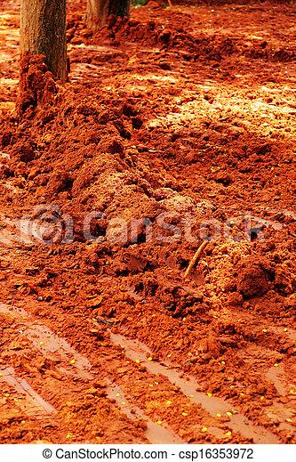 roda, trilhas, soil. - csp16353972