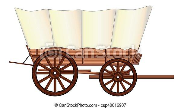 roda, vagão coberto - csp40016907