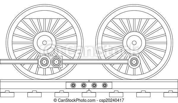 rodas, trem, vapor - csp20240417