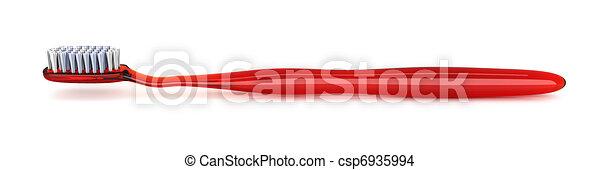 rode tandenborstel - csp6935994