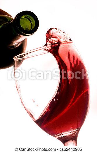 rode wijn - csp2442905