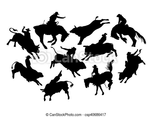 rodeo, activiteit - csp40686417