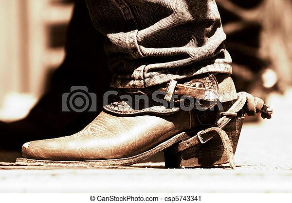 Rodeo Boot & Spur - Copper Tone - csp5743341