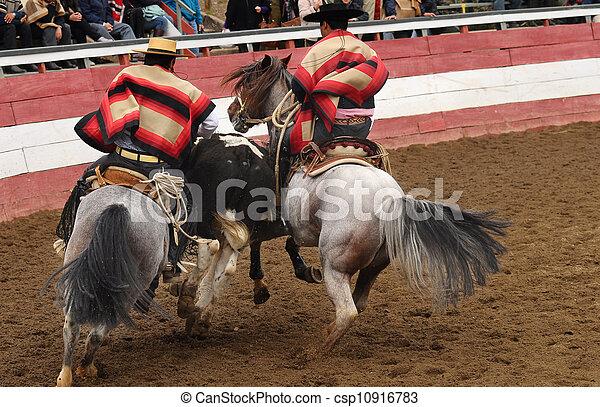 Rodeo en chile - csp10916783
