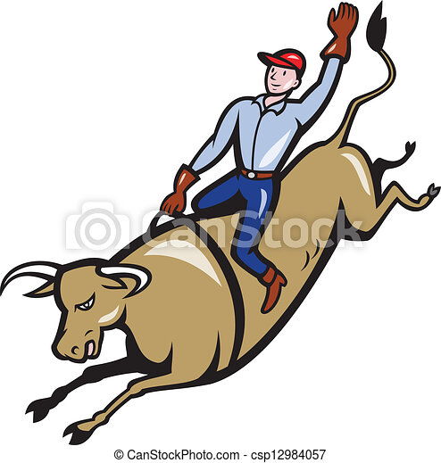 rodeo cowboy bull riding clipart vector search illustration rh canstockphoto ca mechanical bull riding clip art