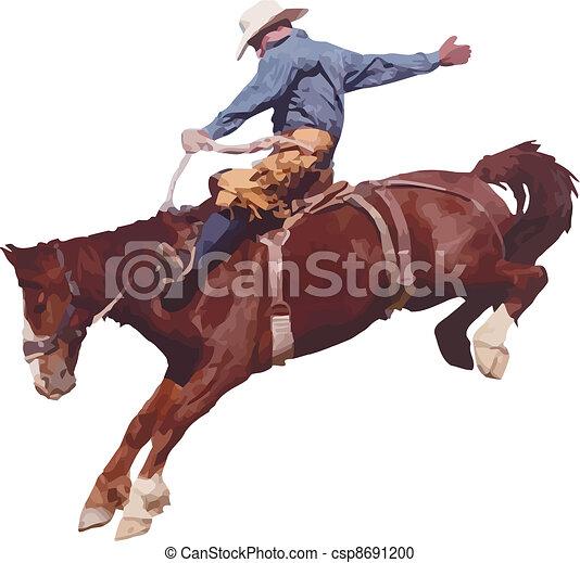 rodeo., cowboy - csp8691200