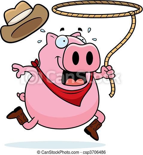 Rodeo Pig - csp3706486