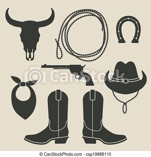 rodeo, set, cowboy - csp19988110