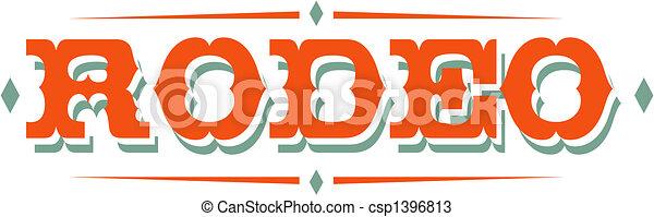 Rodeo Sign Clip Art - csp1396813