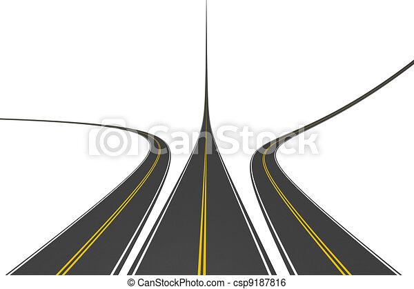 rodovias, infinito - csp9187816