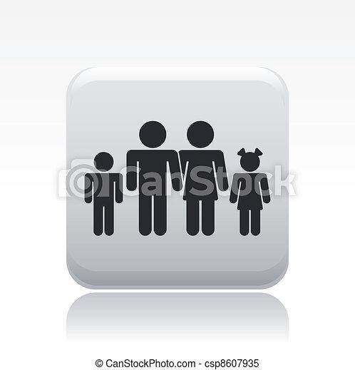 rodzina, odizolowany, ilustracja, jednorazowy, wektor, ikona - csp8607935