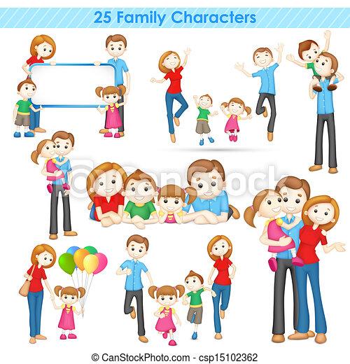 rodzina, zbiór, 3d - csp15102362