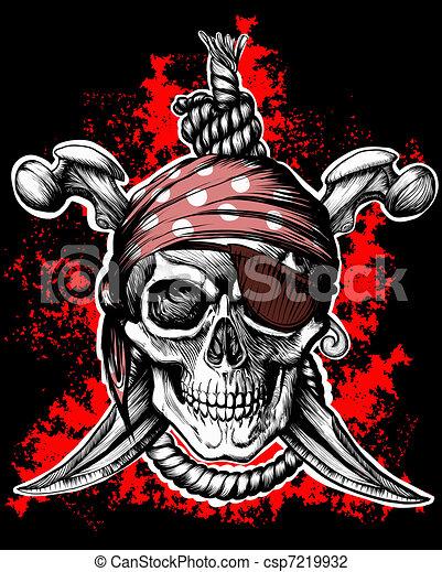 Jolly Roger, símbolo pirata - csp7219932
