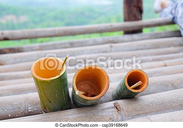 Rohr Hand Wasser Thailand Trinken Bambus Machen Schoenheit