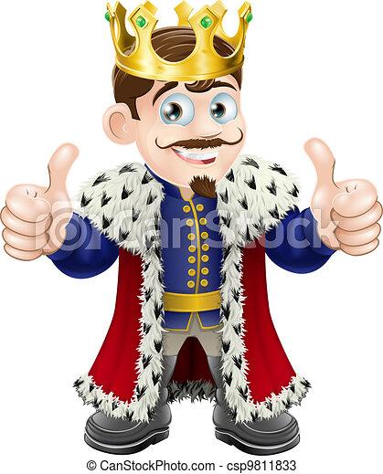 roi, dessin animé - csp9811833