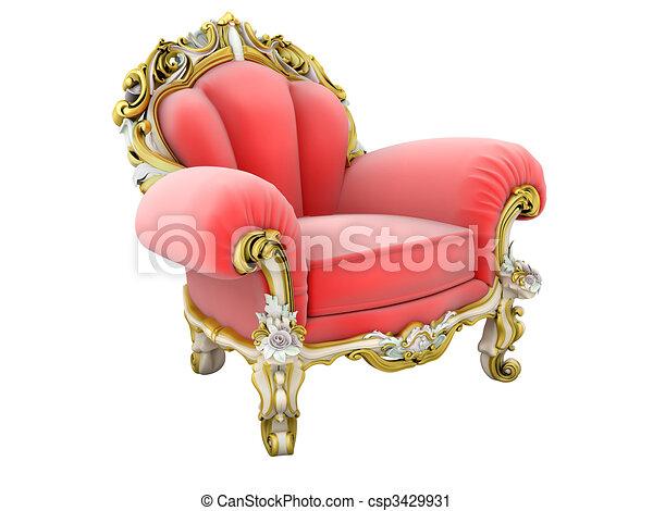 roi, fauteuil - csp3429931