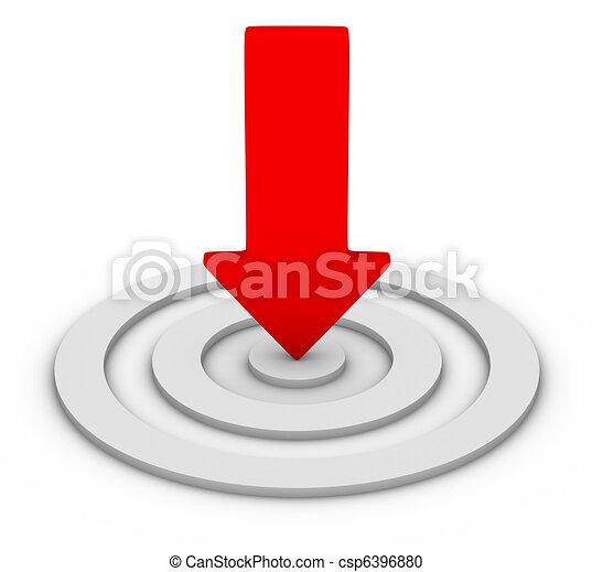Flecha roja y blanco - csp6396880