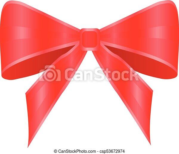 Arco rojo sobre fondo blanco - csp53672974